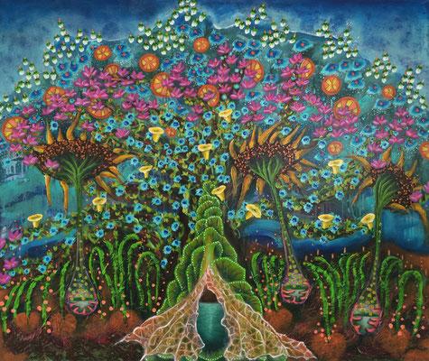 Eden der Natur - 110 x 130 cm - VERKAUFT
