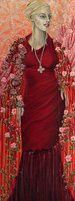 Rosenschal - 170 x 50 cm - VERKAUFT
