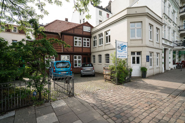 Das Haus des Klostervogts am Eppendorfer Markt – heute ein Klempner.