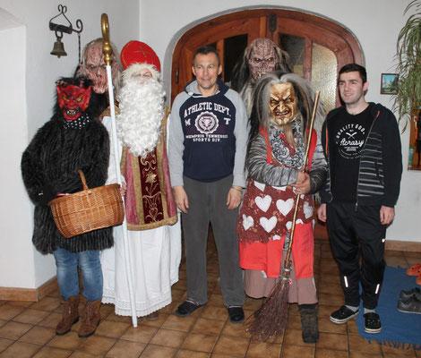 Krampusse mit Martin und Radek