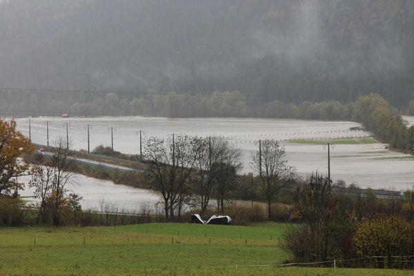 Überschwemmung im Spätherbst