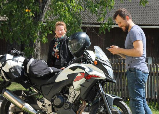 Motorradfahrer aus Litauen