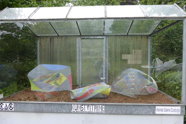 Installation Andreas Blum - Kunstvitrine Botanischer Garten Duisburg-Duissern