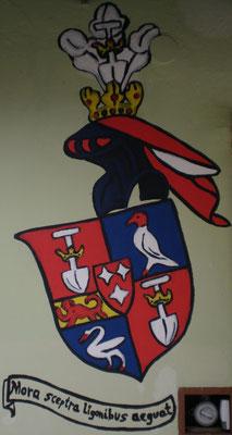 House am Graben (Gars am Kamp, Austria) with the coat of arms of De Graeff