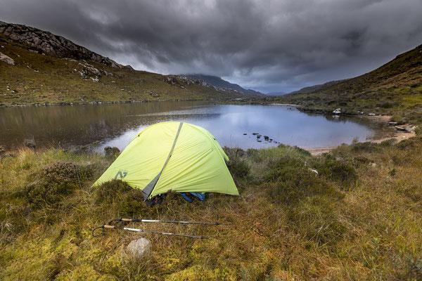 First night at Loch a' Garbh-bhaid Mor