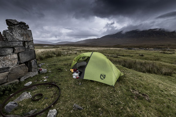 Drying my tent in Glen Duchary