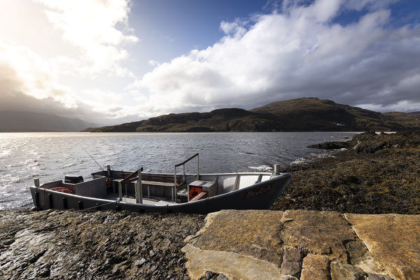 Cape Wrath Ferry awaiting its passengers