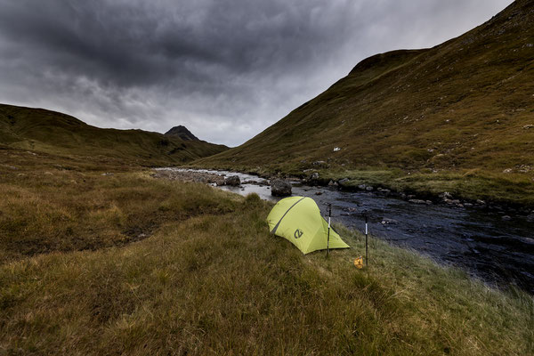 Camping above Falls of Glomach