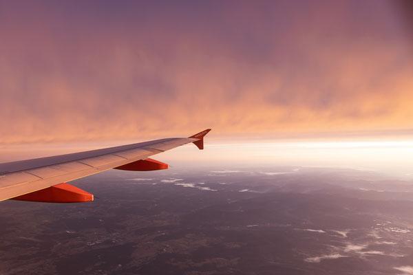 Sky on fire on my way to Edinburgh