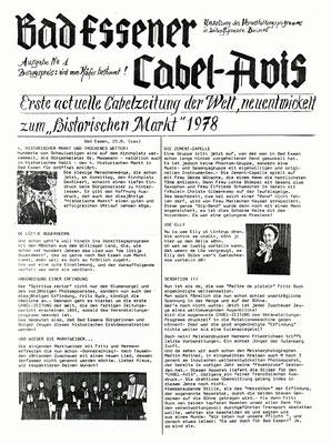 Cabel-Zeitung Teil 1 - 1978