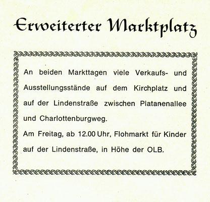Erweiterung des Marktbereiches 1984