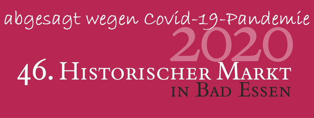 Historischer Markt Bad Essen - abgesagt wegen Covid-19-Pandemie