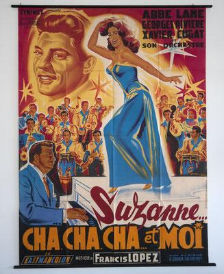 Lithografie, Frankreich 50er Jahre, Francis Lopez, Suzanne, Cha Cha Cha et Moi, Vintage Poster, Vintage Lithografie, Richier-Laugier, Paris