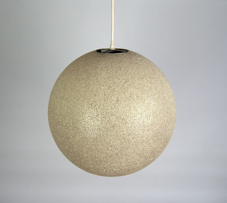 Granulatlampe 70er, Sugarlamp, Ball Lamp, Kugelleuchte 60er, Mid Century, Granulat Lamp,
