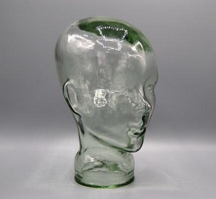 Glaskopf, Glass Head, 1970s, Deco Head, Kopfhörer Kopf, Deko Kopf 70s,