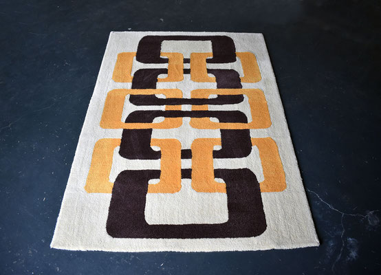 Op Art Teppich, Kunstteppich, Nizza, Hand Tufted Carpet, Wool Carpet, French Design,
