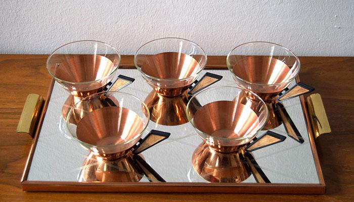 Teeservice Kupfer