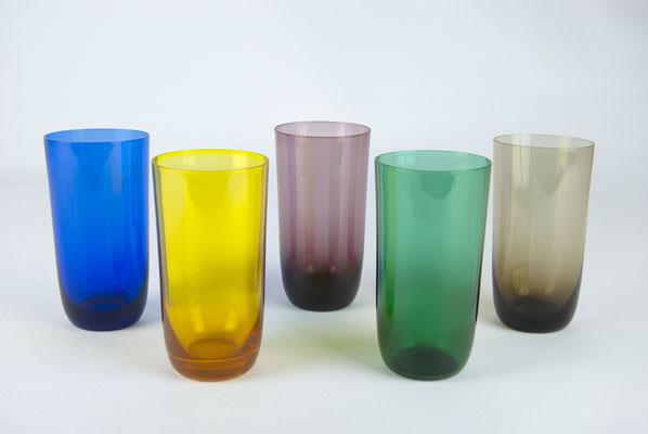 farbige Gläser, 50er Jahre, 60er Jahre, 50s, 60s, Cocktailgläser, Ingrid Glas, bunte Gläser, alte bunte Gläser,