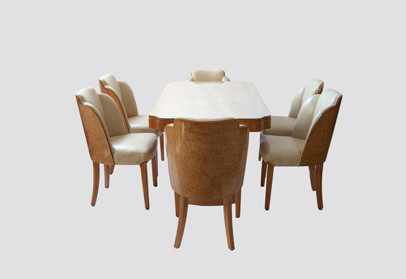 Harry and Lou Epstein, Art Deco, Esszimmer 1930, Art Deco Dining Set, England Art Deco, Lou Epstein, Epstein Art Deco,
