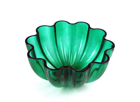 Villeroy & Boch, Glasschale Neptun, V&B Glas, 1970s, Neptun Glasschale grün, Murano Glas, Mid Century,