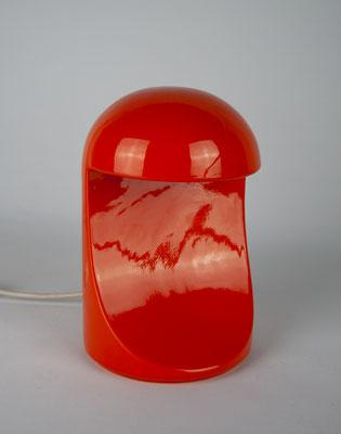 Longobarda, Marcello Cuneo, Gabianelli, 1966, Ceramic Lamp, Keramik Tischlampe, Orange,