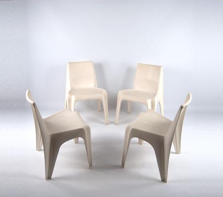 Bofinger Stuhl, Helmut Bätzner, BA 1171, Kunststoffstuhl, Panton Chair, 60er,