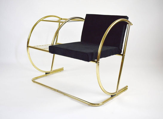 Telefonbank, Wartebank, 1970s, Telephone Bench, Art Deco, Bauhaus, 1960s Bench, Mid Century, Vintage Furniture,