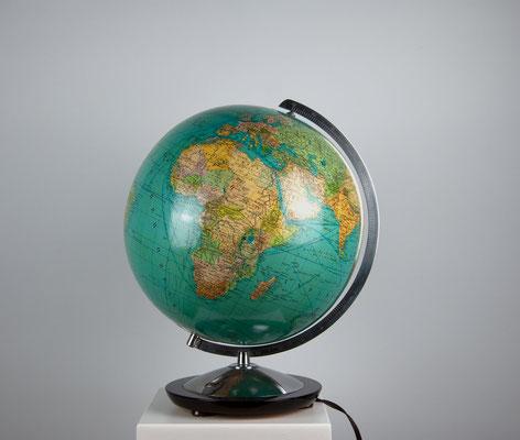 Globus Columbus, Globe 1950s, Vintage Globe, Mid Century, Columbus Duo Erdglobus, Art Deco, Paul Oestergaard, 50er Jahre,