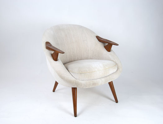 60s Lounge Chair, Scandinavian Design, 60s Arm Chair, Mohair, Wegner Style, Papa Bear, Cocktail Chair 60s, Teakwood Chair,