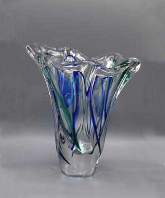 Glass Vase, Max Verboeket, Maastricht Glass, 1960s, Glass Vase 60s, 1970s, 1950s, Murano, Mid Century, Dutch Design,