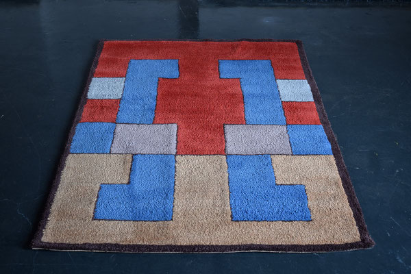 Bauhaus Teppich, Berlin Rug, Art Deco Carpet, Hand Tufted Carpet, Wool Carpet, 1930s Rug,