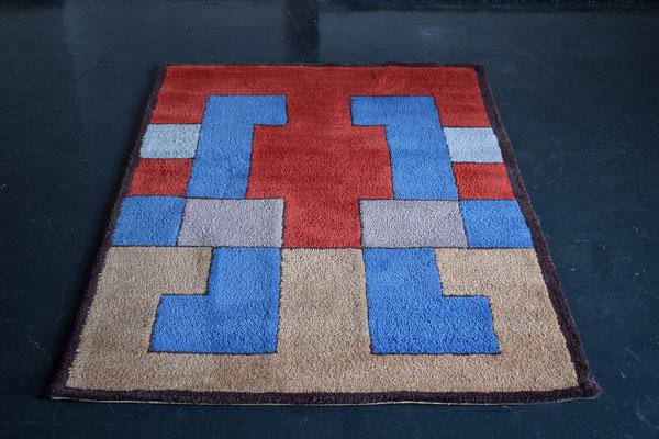 Bauhaus Teppich, Berlin Rug, Art Deco Carpet, Hand Tufted Carpet, Wool Carpet, 1930s Rug,