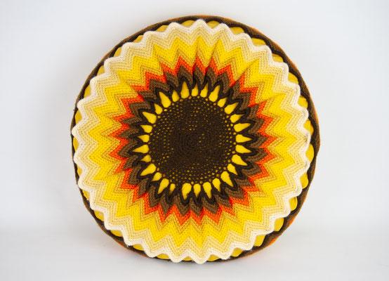 Vintage Kissen, Boho Style, 70s Cushion, Vintage Cushion, Crochet Cushion 1970s, 1970s, 70s Design, Textile Design,