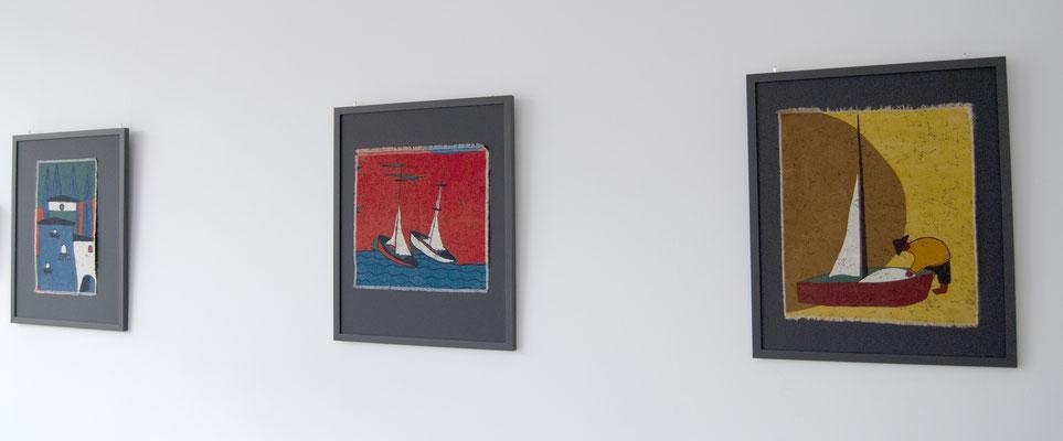 Textilbilder 50s, 50er Jahre Textilkunst, 50s Picture, Bauhaus, Art Deco,
