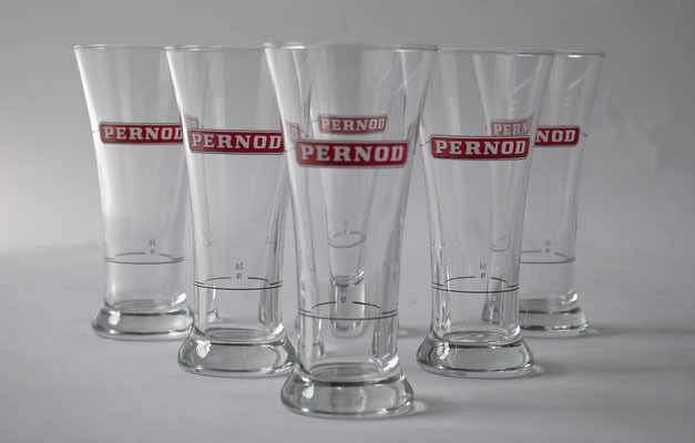 Pernod Gläser, 80er Jahre, Pernod, Pastis,