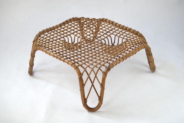 Rattan Coffee Table 60s, Vittorio Bonacina, Italian Design 60s, Franco Albini, Vintage Rattan Coffee Table, Rattan Tisch 60er Jahre