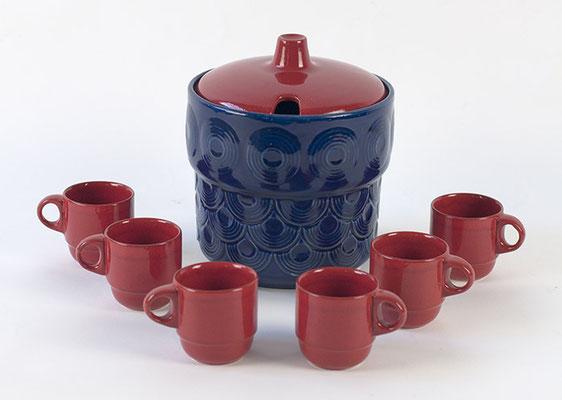 Bowle Set JASBA, Jasba Keramik, 60s, 70s, Bowle Service,
