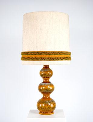 Kaiser Leuchten, Kaiser Tischleuchte, 60er Jahre, 70er Jahre, Keramiklampe, Tischleuchte, Neheim Hüsten,