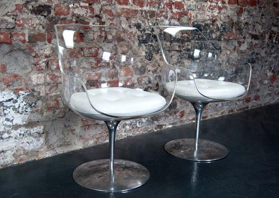 Champagne Chair, Erwin & Estelle Laverne, Formes Nouvelles, 1960er Jahre, Mid Century,