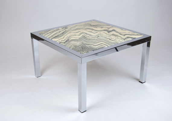 60s Marble Table, Knoll, Mid Century, Marble Zebra, Marmortisch, Coffee Table, 70s, Seventies, Sixties, 60s, 60er Jahre,
