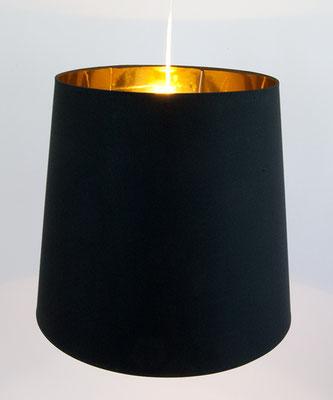 Hängelampe schwarz gold