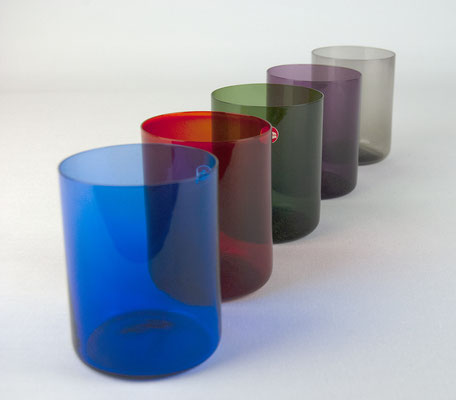 farbige Gläser, 50er Jahre, 60er Jahre, Ingrid Glas, Glashütte Ingrid, 1960s, 1950s, Bauhaus,