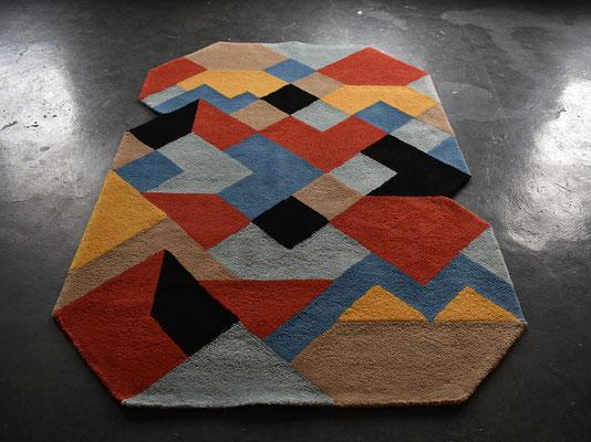 Mid Century Carpet, Hand Tufted Carpet, Wool Carpet, Oslo, Kunstteppich,