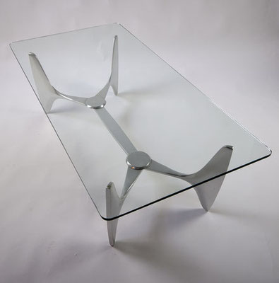 Glass Coffeetable by Knut Hesterberg for Ronald Schmitt 1960s
