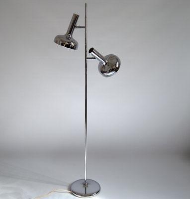 Staff Leuchten, Staff Stehlampe, Staff Chrom Lampe, Hustadt Leuchten, Kaiser Leuchte, Spot 60er Jahre, 70er Jahre,