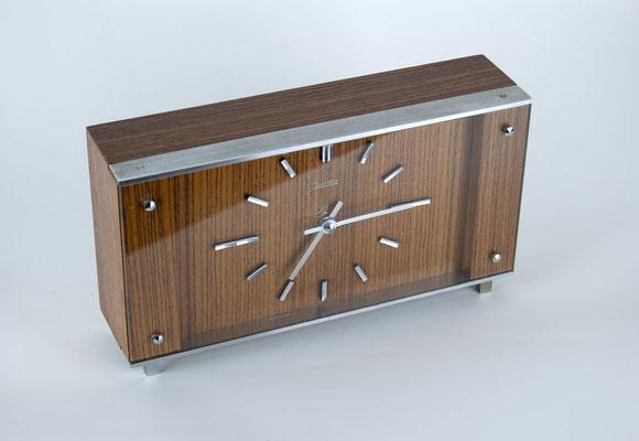 Zentra Tischuhr, 60er Jahre, 60s, 50er Jahre, 50s, Mid Century, Tischuhr, Bauhaus, Art Deco,