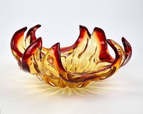 Muranoschale rot, Murano Italy, Murano Glass 50s, 50er Jahre Glas, Seguso, Venini,