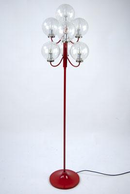 60s Floor Lamp, Kaiser Leuchten, Stehlampe 60er Jahre, Kugelleuchte 60er Jahre, 70s, 70er Jahre,