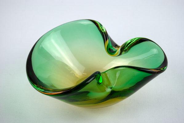 Muranoglas, 70s, 60s, Murano Glasschale, Murano grün,