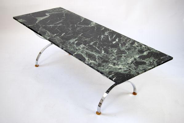 Marmortisch 60s, Marble Dark Green, Knoll, Bauhaus, 70s, 50s, Mid Century, Green Marble, Marmortisch, Florence Knoll,